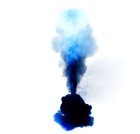 fiery: Abstract, blue explosion of fire against white background *** Local Caption *** Abstract, blue explosion of fire against white background