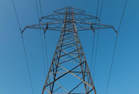 High voltage trasmission tower Banque d'images - 130805550