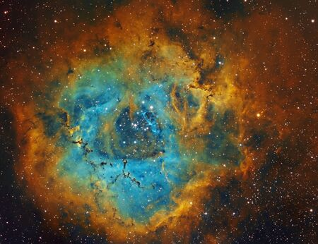 Rosette Nebula in Unicorn constellation, NGC2237 Фото со стока - 130805651