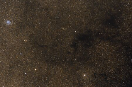 Wild Duck cluster of stars against stars of mily way Фото со стока - 130805655