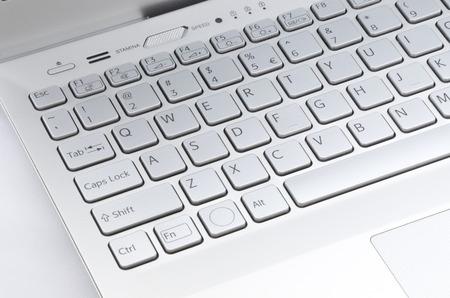 コンピューターのキーボードの左側にあります。 写真素材