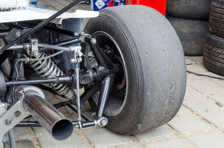 bolid: Bolids wheel and exhaust pipe with smoke