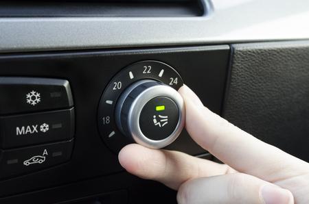 人間の手のチューニング車の気候の制御システム、温度の設定