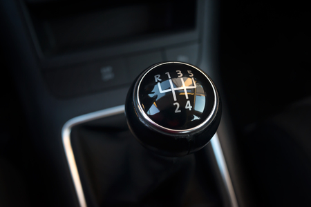 Manual transmission gearshift stick; Close-up view