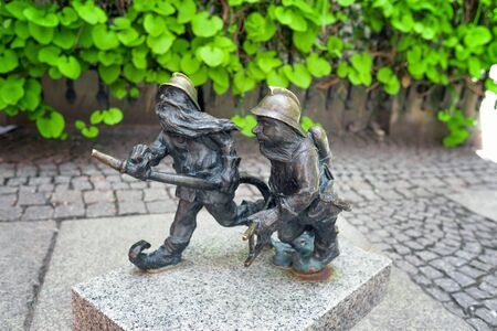 Gnome statue in Wroclaw, Poland Stock Photo