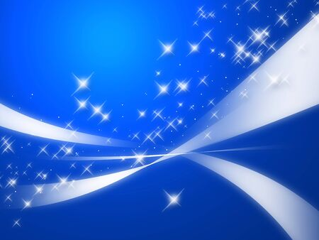 harmonious: abstract blue background with stars Stock Photo