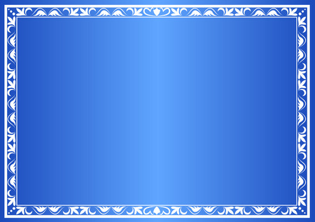 blue decorative frame with gradient Vector