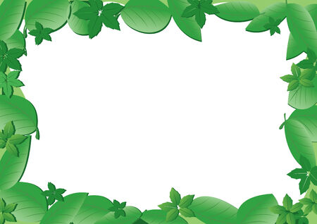 frame with green leaves Stock Vector - 7054245