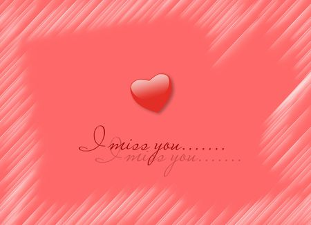 I miss you, card Stock Photo - 7054222