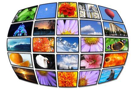 Color multidispley, tv, monitor Stock Photo - 7080425