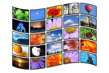 Color multidispley, tv, monitor Stock Photo - 7080423