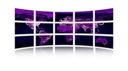 world, display, tv, monitors Stock Photo - 7080387