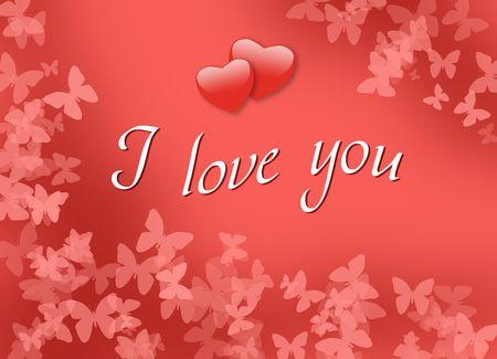 I love you, card, design Stock Photo - 7153950