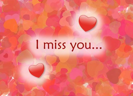 I miss you, card, I love you Stock Photo - 7153952
