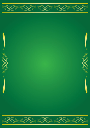 tracery: green decorative card with tracery