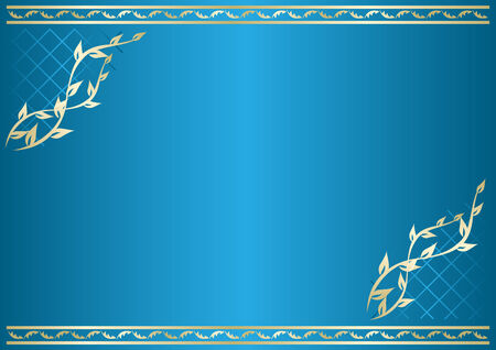 floral blue card with gradient