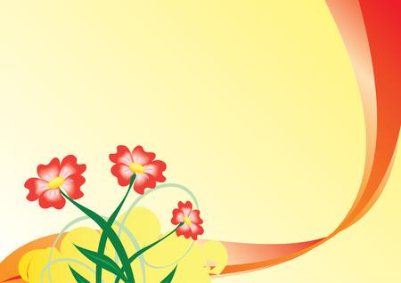 tarjeta amarilla: tarjeta amarilla con flores