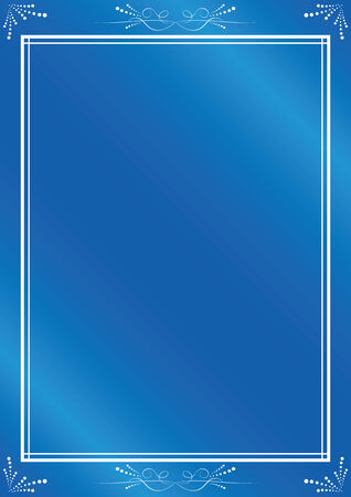 elegant  blue frame with gradient Stock Vector - 7744160