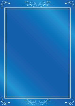 eleganz: elegante blau Frame mit Farbverlauf Illustration