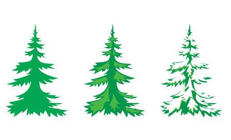 winterly: set of 3 fir-trees