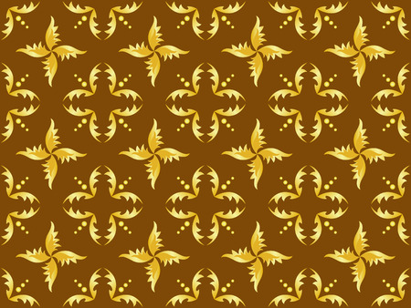 seamless brown and gold texture Vector