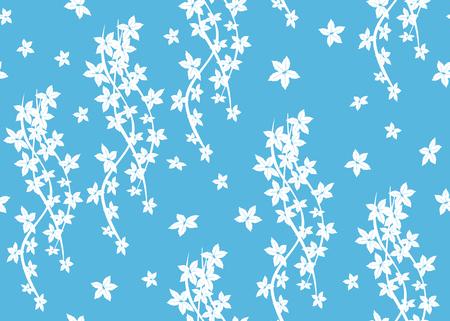 liana: blue seamless pattern with liana