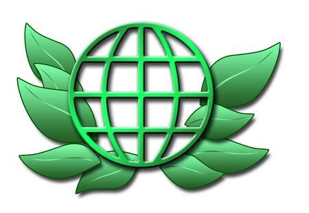 globus: illustration of green globus and leaves