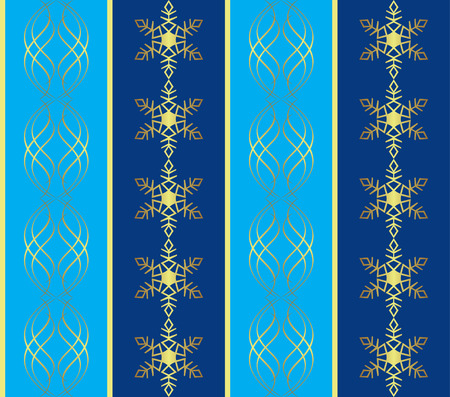 blue pattern with snowflakes Stock Vector - 8481304