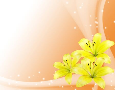 romantic card with yellow flowers Stock Photo - 8498350