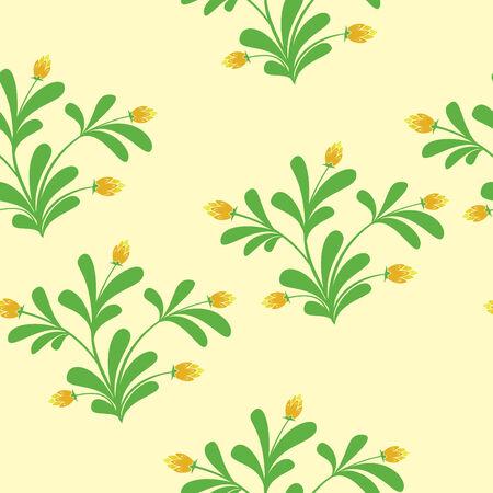 floral light seamless pattern Vector