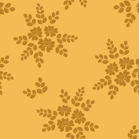beige seamless floral pattern Vector