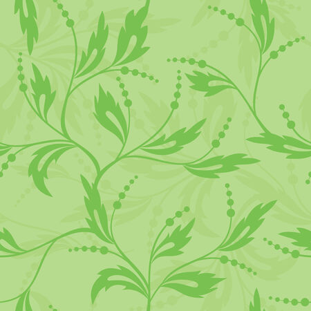 vector green seamless floral texture Vector
