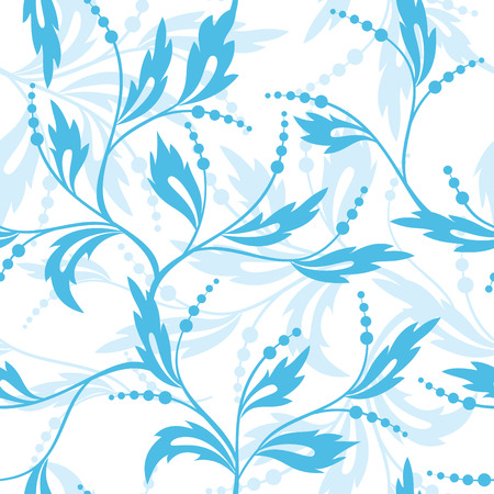 textiles:   blue and white floral pattern