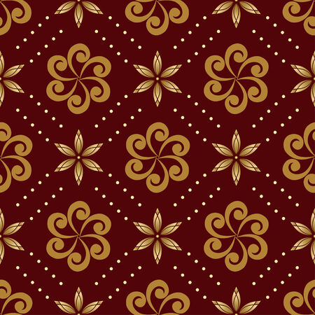 brown geometric seamless texture Vector