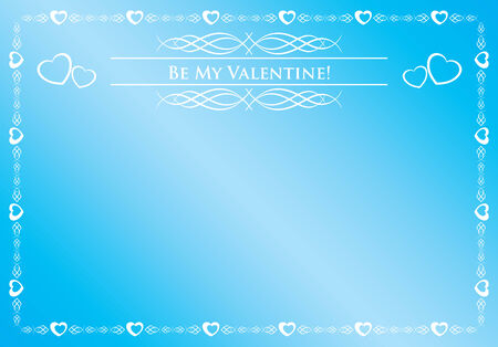 blue card - be my valentine Vector