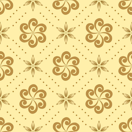 vector beige seamless pattern with geometric elements Vector