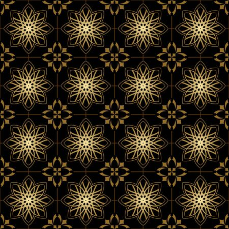 vector black and golden geometric texture with crossed lines Stock Vector - 9199956
