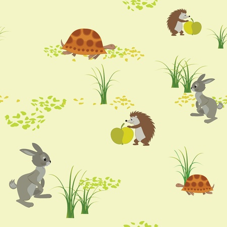 vector seamless texture with animals Vector