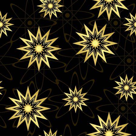 vector black geometric seamless texture Vector