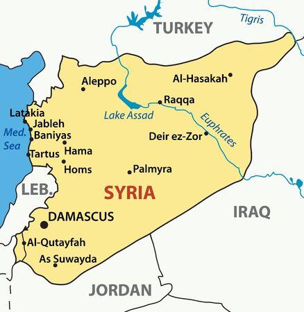 syria: Karte von Syrien Illustration