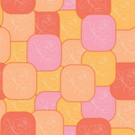 geometric red and orange pattern Vector