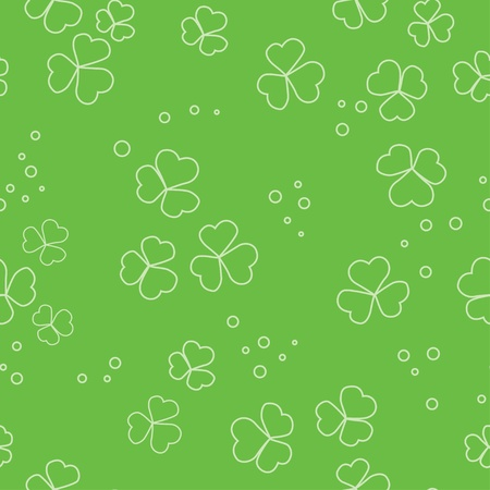 green seamless pattern with floral elements Vector
