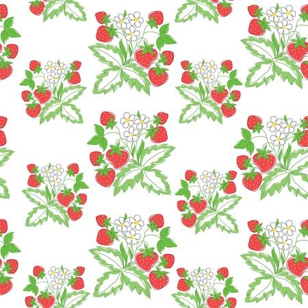 light seamless pattern with strawberry