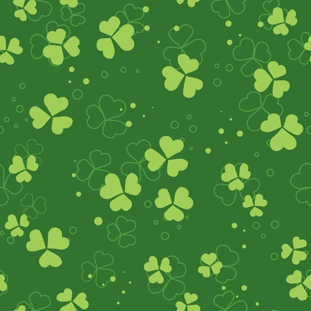 vector green seamless pattern with trefoils Stock Vector - 9482830
