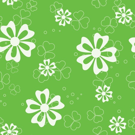 vector green seamless pattern with flora Stock Vector - 9482840