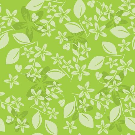 światła zielony wzorek kwiatowym