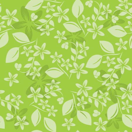 textiles: light green floral pattern