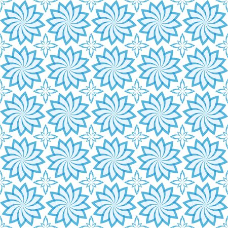 blue geometric seamless texture on white background Stock Vector - 9520554