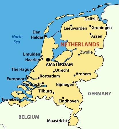 niederlande: Vector Illustration - das K�nigreich der Niederlande
