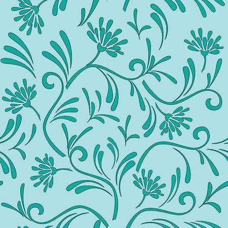 celadon: vector floral pattern with color of celadon